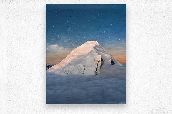 Starry Peak  Metal print