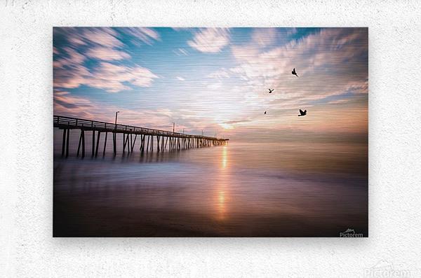 VA Beach Sunrise  Metal print