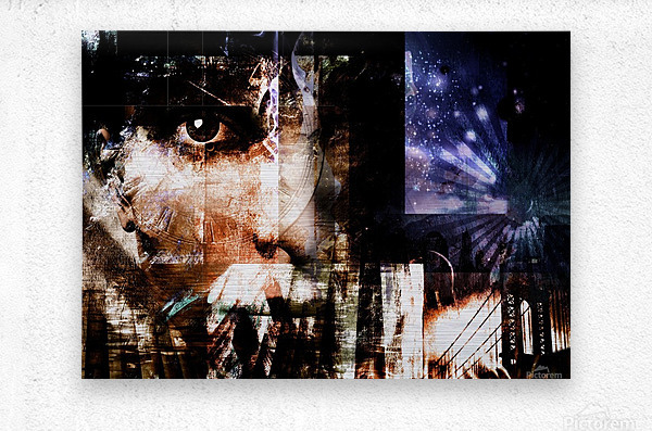 Face Abstract  Metal print
