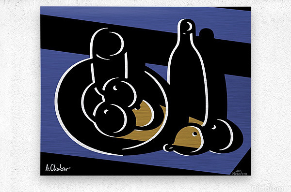 Still Life with a Bottle  Metal print