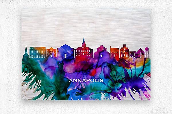Annapolis Skyline  Metal print