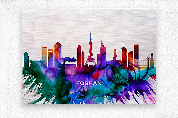 Foshan Skyline  Metal print