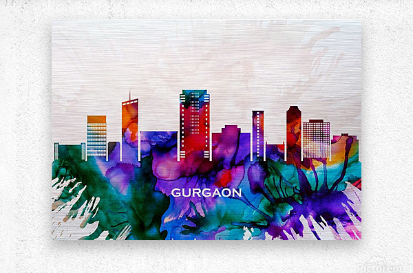 Gurgaon Skyline  Metal print
