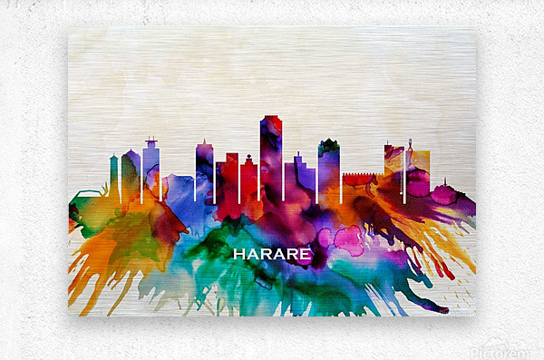 Harare Skyline  Metal print