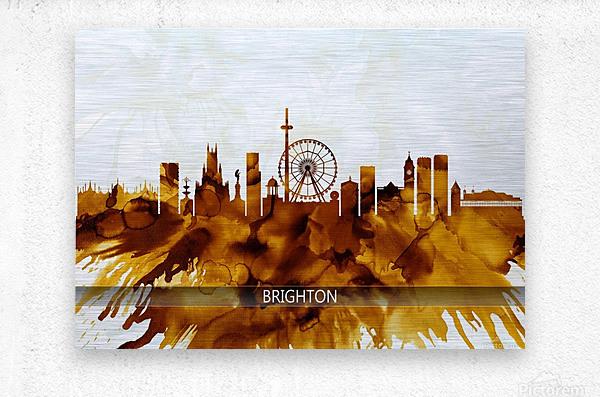 Brighton England Skyline  Metal print