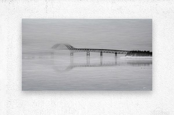 Seal Island Bridge in fog  Metal print