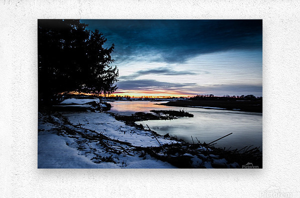The Nith - Post Sunset  Metal print