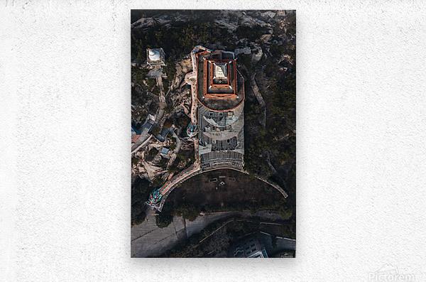 Abandoned Dragon Hotel  Metal print