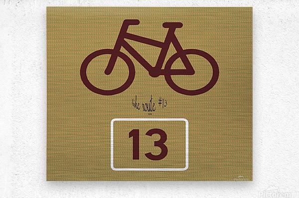 Bike Route number 13  Metal print
