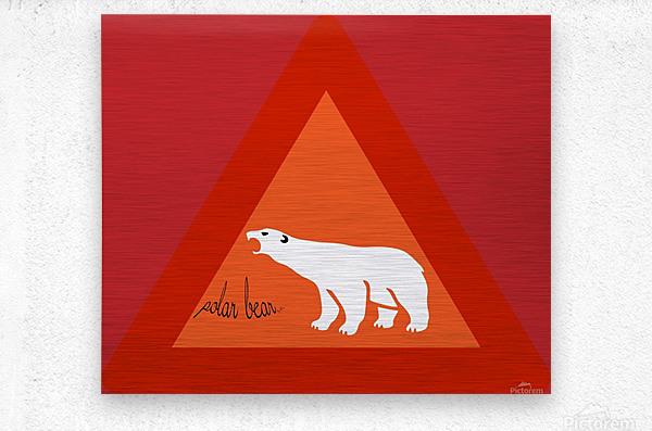 Polar Bear by dePace  Metal print