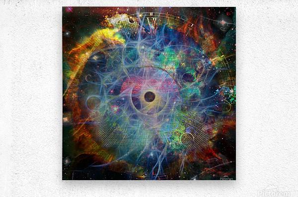 The Eye of Time  Metal print