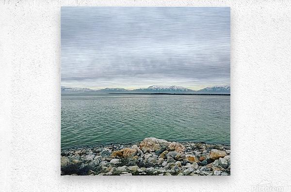 Great Salt Lake Shoreline  Metal print