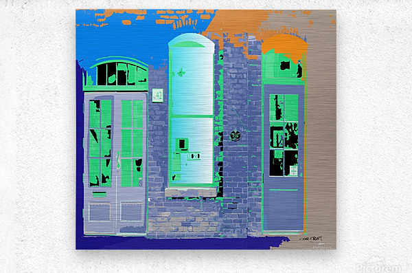 STORE FRONT by dePace  Metal print
