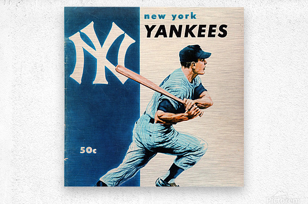1956 New York Yankees Yearbook Wall Art  Metal print