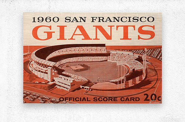 1960 San Francisco Giants  Metal print