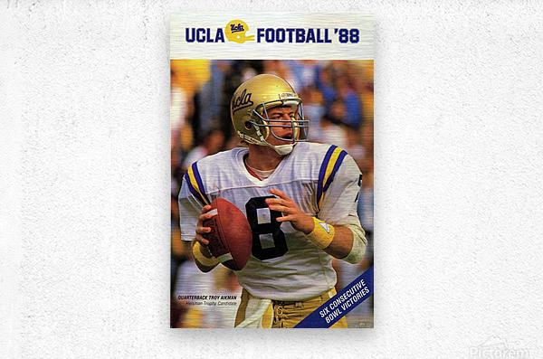 1988 Troy Aikman UCLA Football Poster  Metal print
