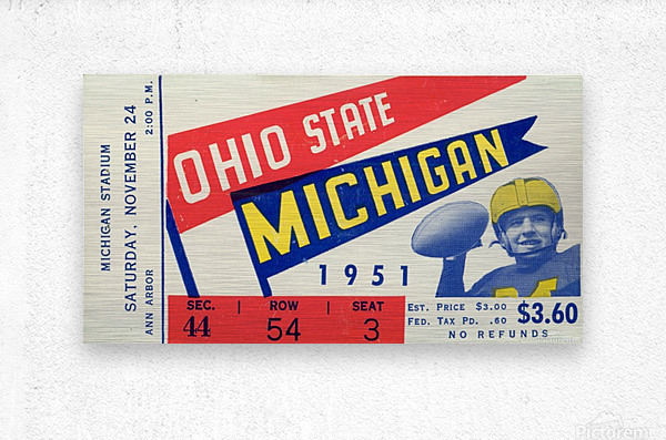 1951 Ohio State vs. Michigan  Metal print