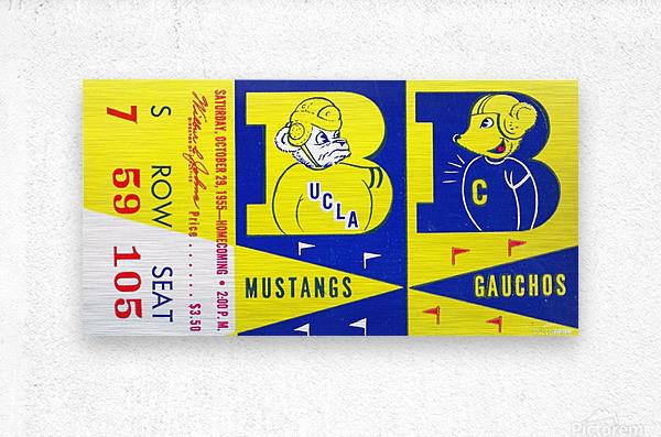 1955 UCLA  vs. Cal   Metal print