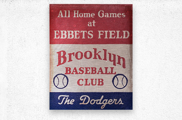 1939 Brooklyn Dodgers  Metal print