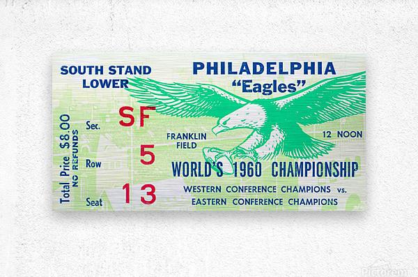 1960 Philadelphia Eagles Football Ticket  Metal print