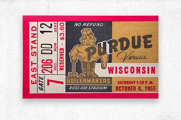 1955 Wisconsin vs. Purdue  Metal print