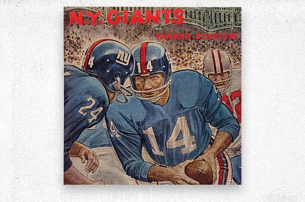 1963_National Football League_Washington Redskins vs. New York Giants_Yankee Stadium_Program_Row One (1)  Metal print