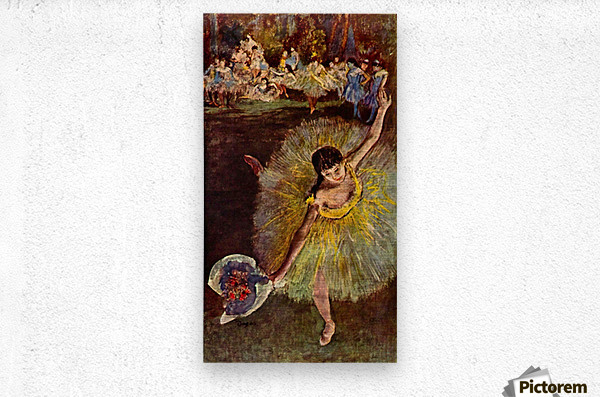 End of the arabesque by Degas  Metal print