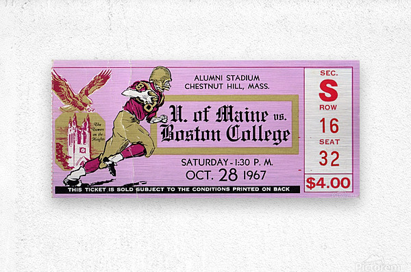 1967 Maine vs. Boston College  Metal print