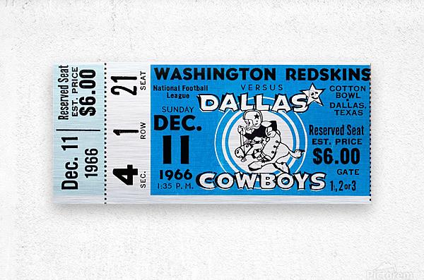 1966 Washington vs. Dallas  Metal print