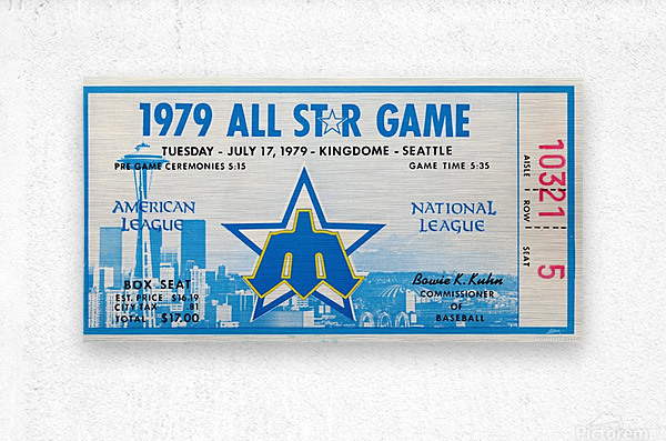 1979 Major League All-Star Game Seattle  Metal print
