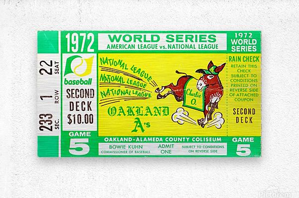 1972_Baseball_World Series_Cincinnati Reds vs. Oakland As_Oakland Alameda Coliseum_Row One  Metal print