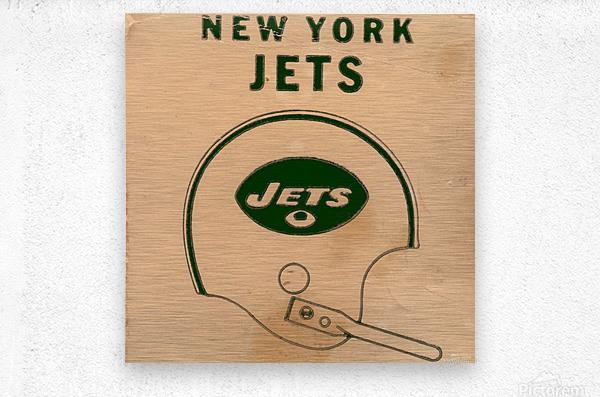 1971 New York Jets Vintage Helmet Art  Metal print