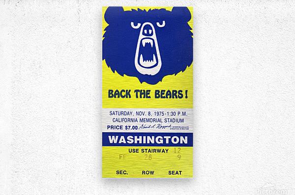 1975_College_Football_California vs. Washington_California Memorial Stadium_Row One  Metal print