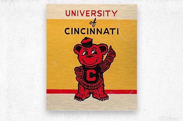 Vintage University of Cincinnati Art Reproduction  Metal print