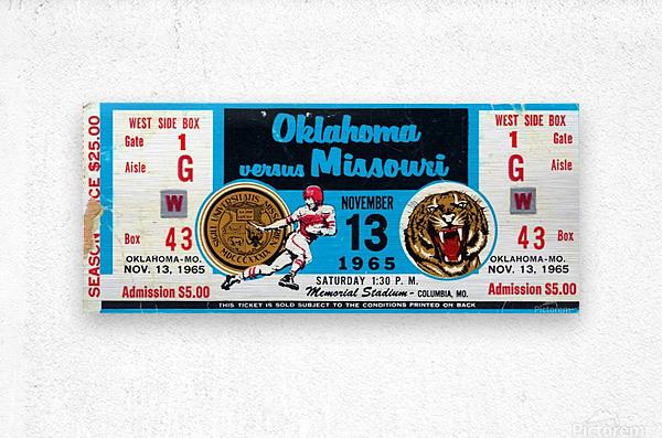 1965_College_Football_Oklahoma vs. Missouri_Memorial Stadium_Columbia_Row One  Metal print