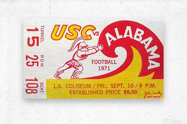 1971 Alabama vs. USC  Metal print