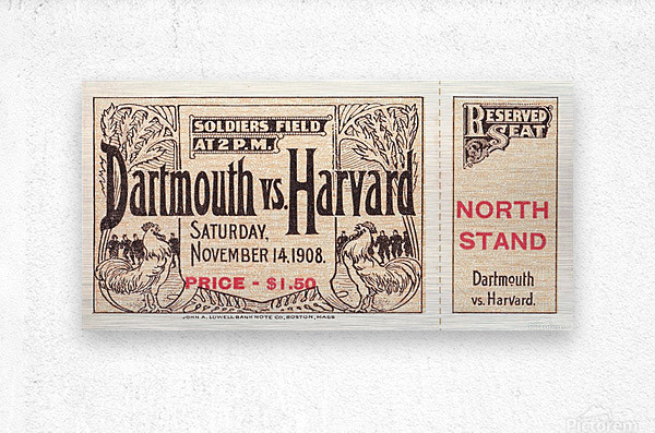 1908 Dartmouth vs. Harvard  Metal print