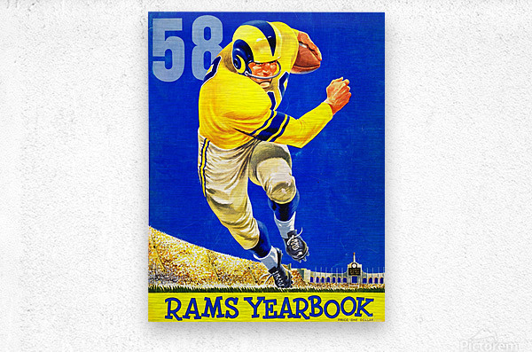 1958_National Football League_Los Angeles Rams_Yearbook_Row One  Metal print