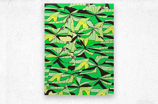Yellow Fields  Metal print