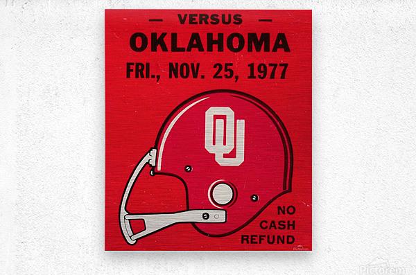1977 Oklahoma Sooners Helmet Art  Metal print