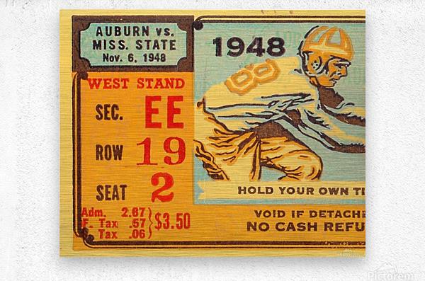 1948 Auburn vs. Mississippi State  Metal print