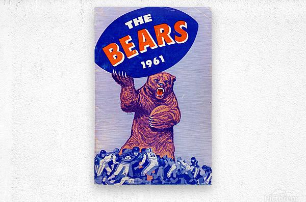 1961_National Football League_Chicago Bears_Row One Brand  Metal print