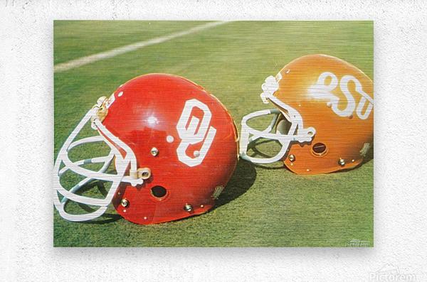 1978 Oklahoma Sooners OSU Cowboys Football Helmet Art   Metal print