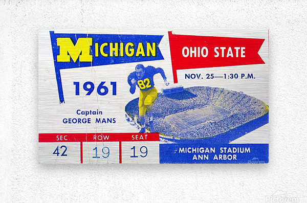 1961_College_Football_Ohio State vs. Michigan_Michigan Stadium_Ann Arbor_Row One Brand  Metal print