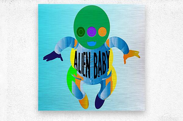 Alien Baby  Metal print