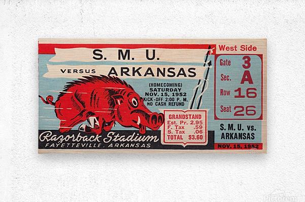 1952 SMU vs. Arkansas  Metal print