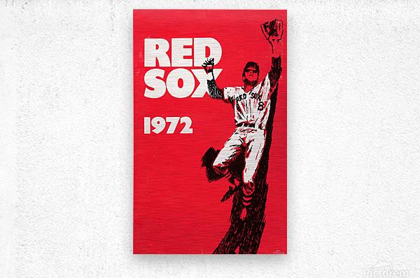 1972_Major League Baseball_Boston Red Sox_Fenway Park_Row One Brand  Metal print