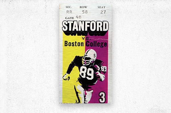 1979_College_Football_Boston College vs. Stanford_Palo Alto_Row One Brand College Art  Metal print
