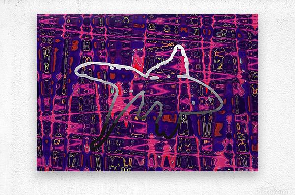 Abstract Fish  Metal print