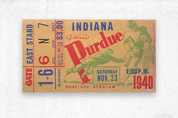 1940 Indiana vs. Purdue   Metal print